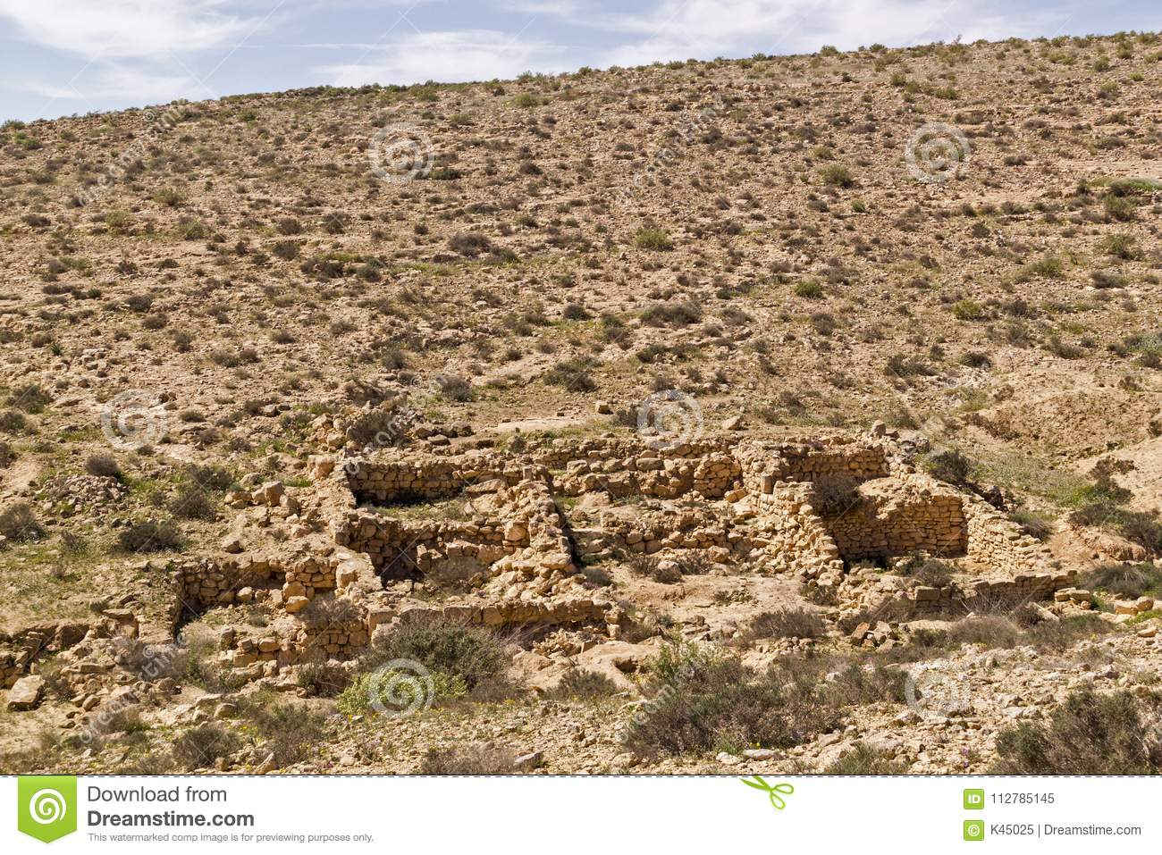 The `Lost City` Ruins In Negev Desert,Israel Stock Image