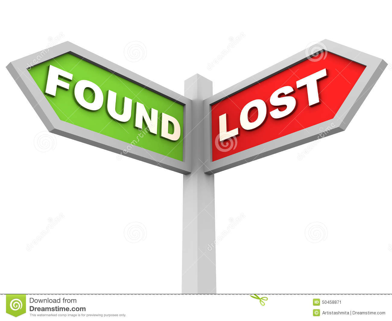 lost and found stock illustration illustration of lost 50458871