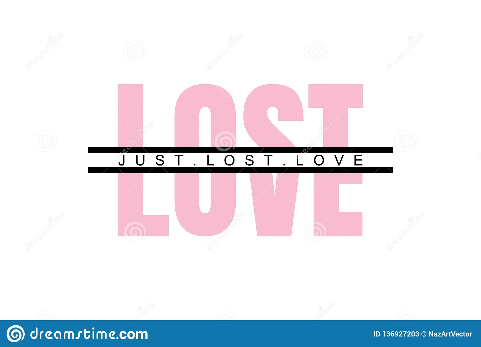 Lost Love Sticker Typography Slogan For T Shirt Printing Slogan