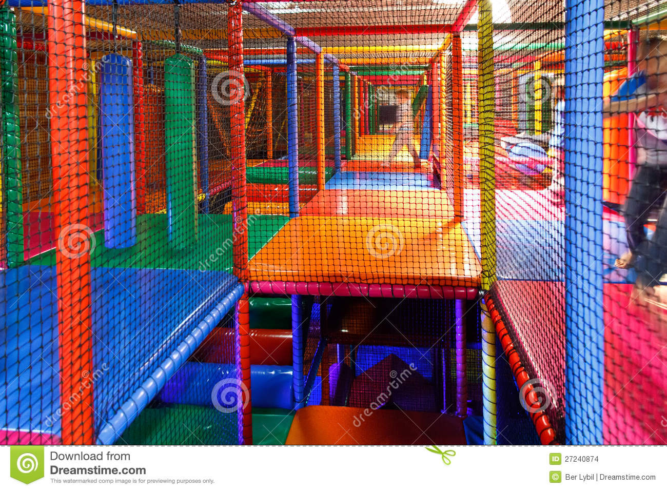 Lost In The Playground Maze Stock Images Image 27240874