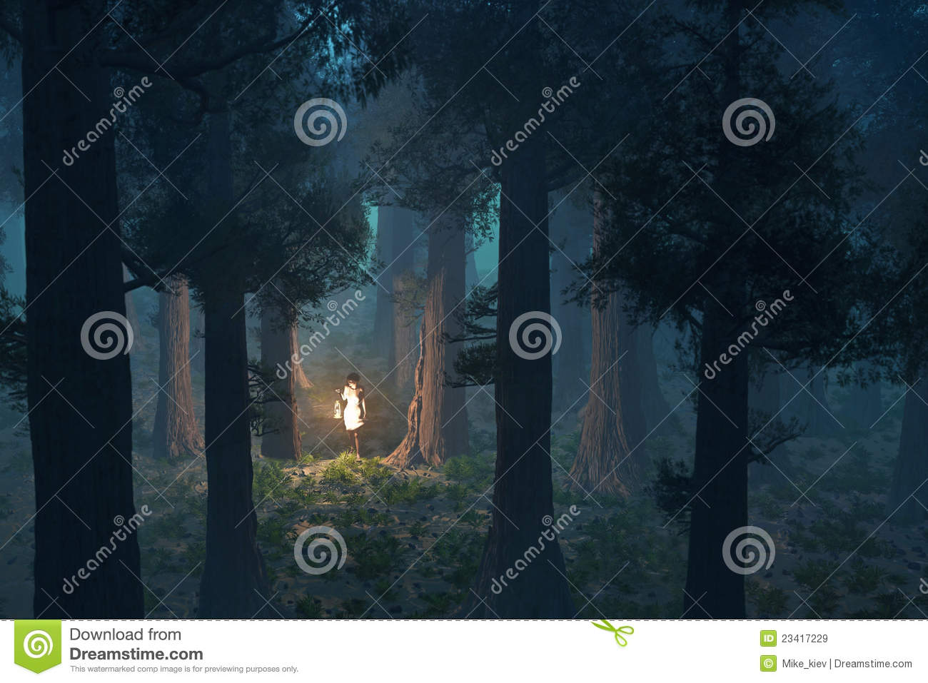lost woman in the forest