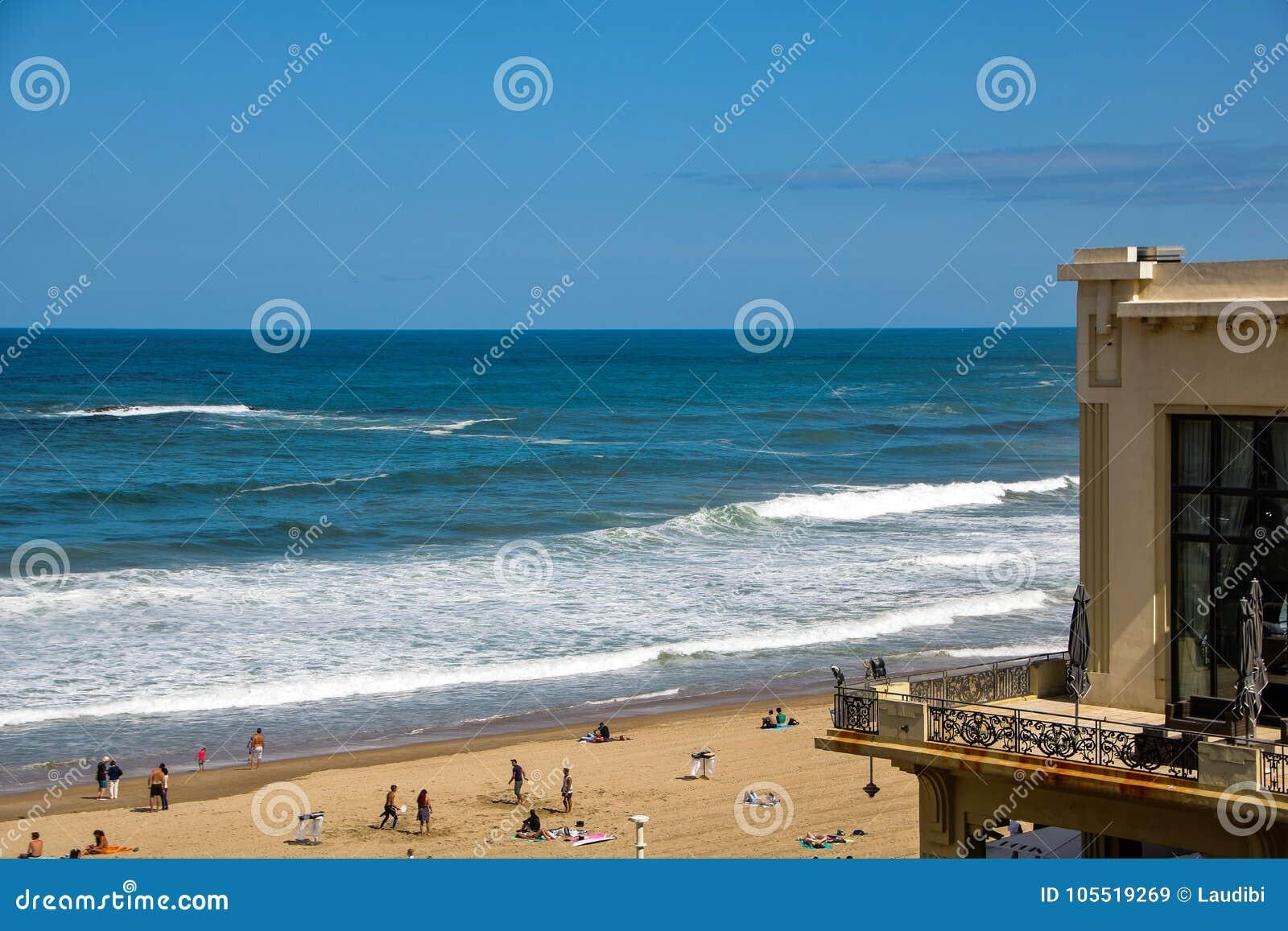 Losu Angeles grande plage wielka plaża Biarritz