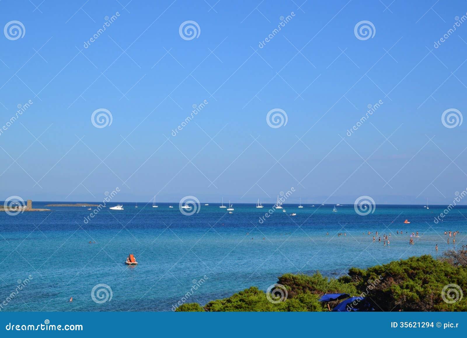 Losu Angeles Pelosa plaża w Sardinia, Włochy