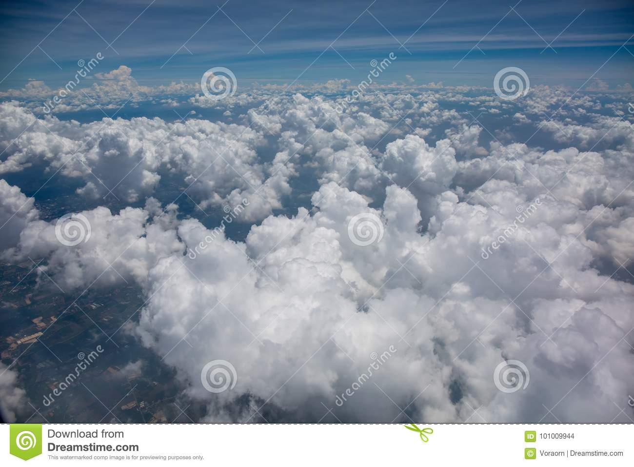 A lot of cloud in the air