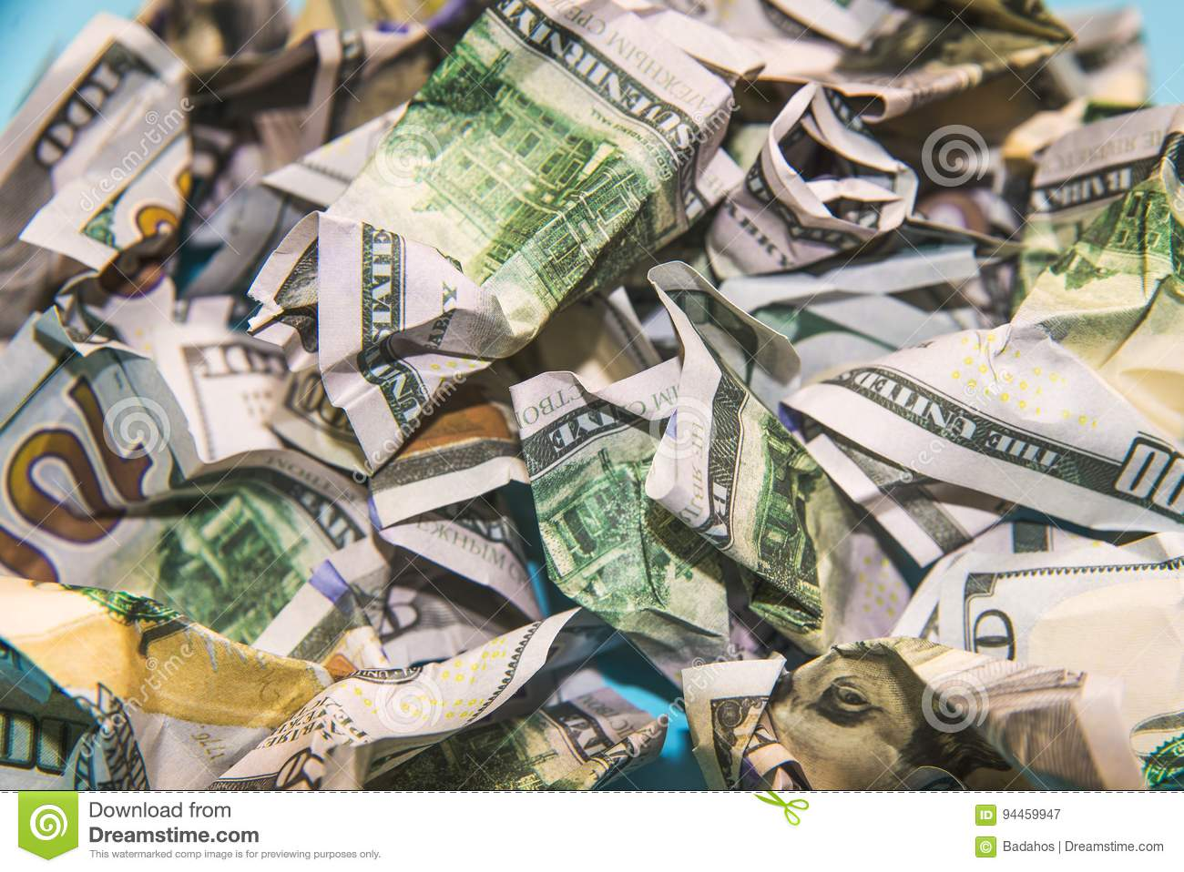 Image result for pic of crumpled up money