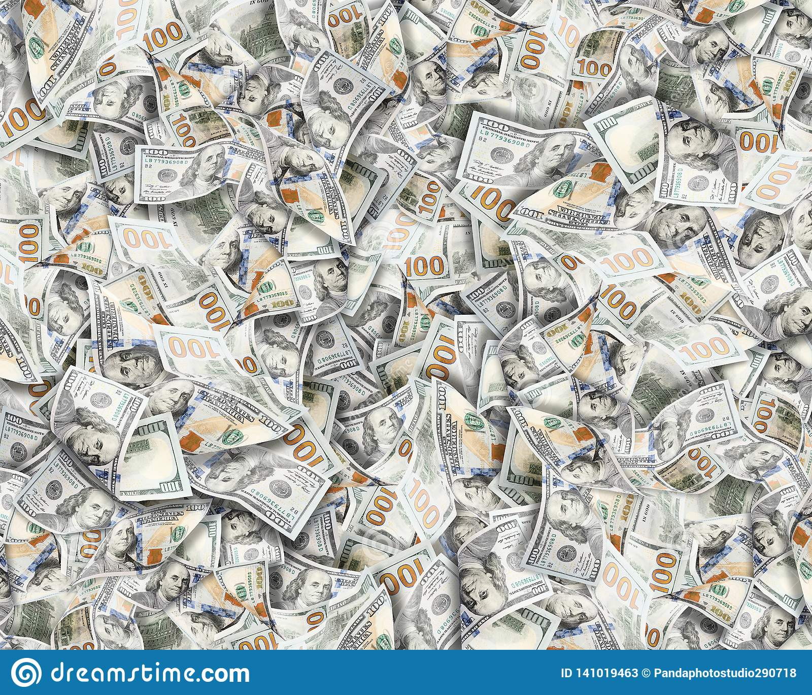 A lot of dollars.Highly detailed picture of American USA money