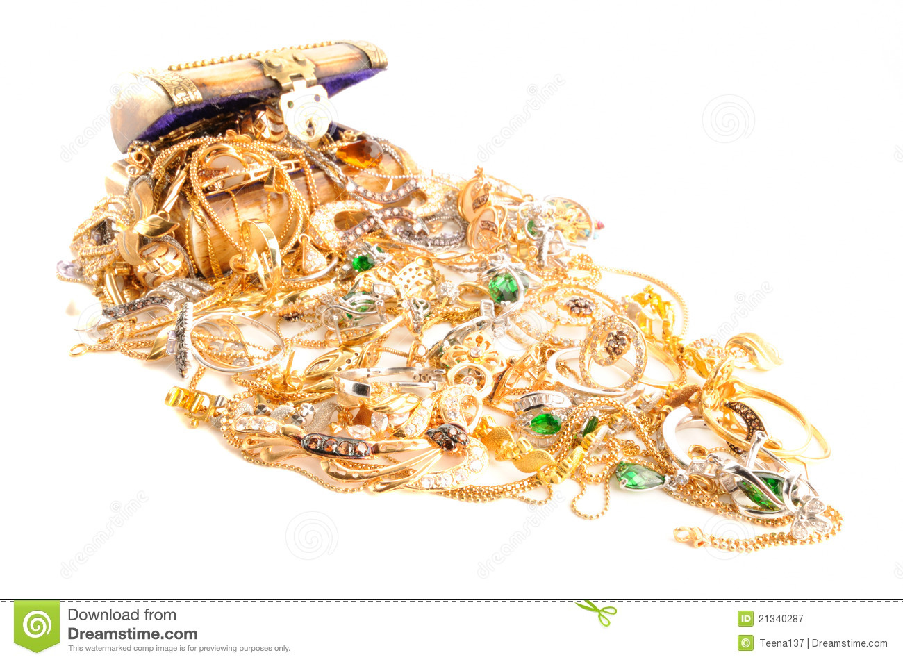Lot Of Gold Jewelry Royalty Free Stock Photography Image