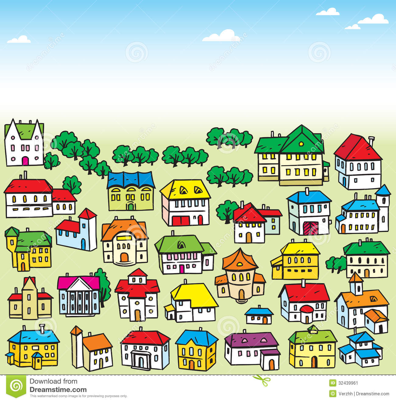 Lot Of Houses Stock Image Image 32439961