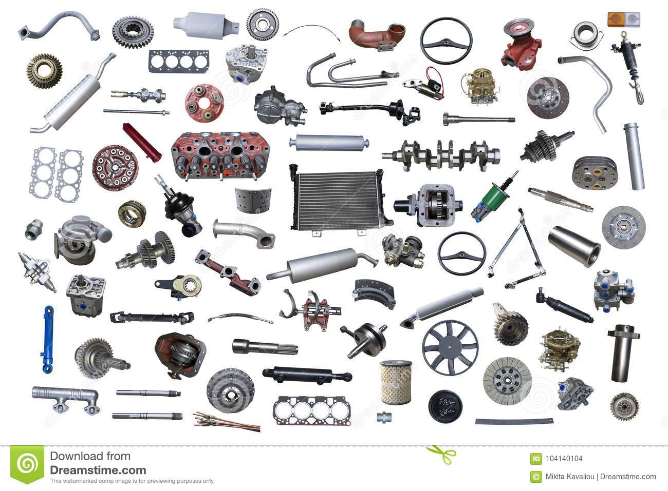 New Car Parts : Lot of new auto spare stock photo image tool motor