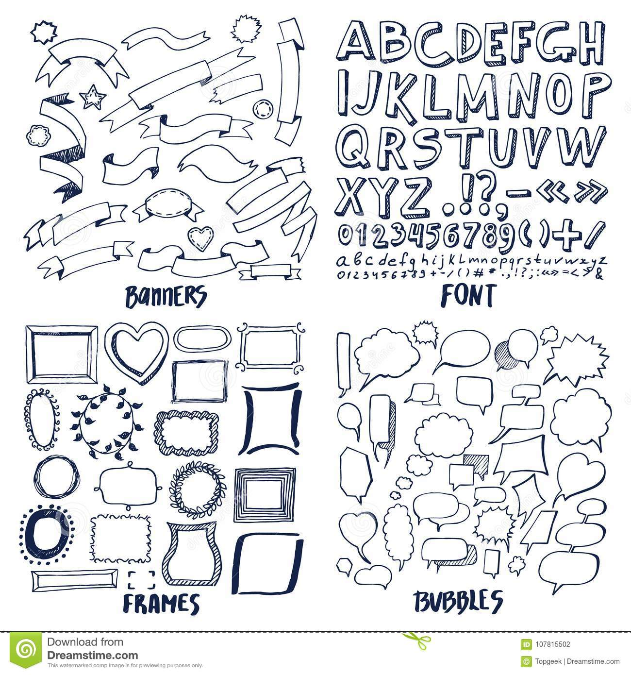 Lot of patterns of font banners frames and bubbles stock vector download lot of patterns of font banners frames and bubbles stock vector illustration of calligraphy spiritdancerdesigns Image collections