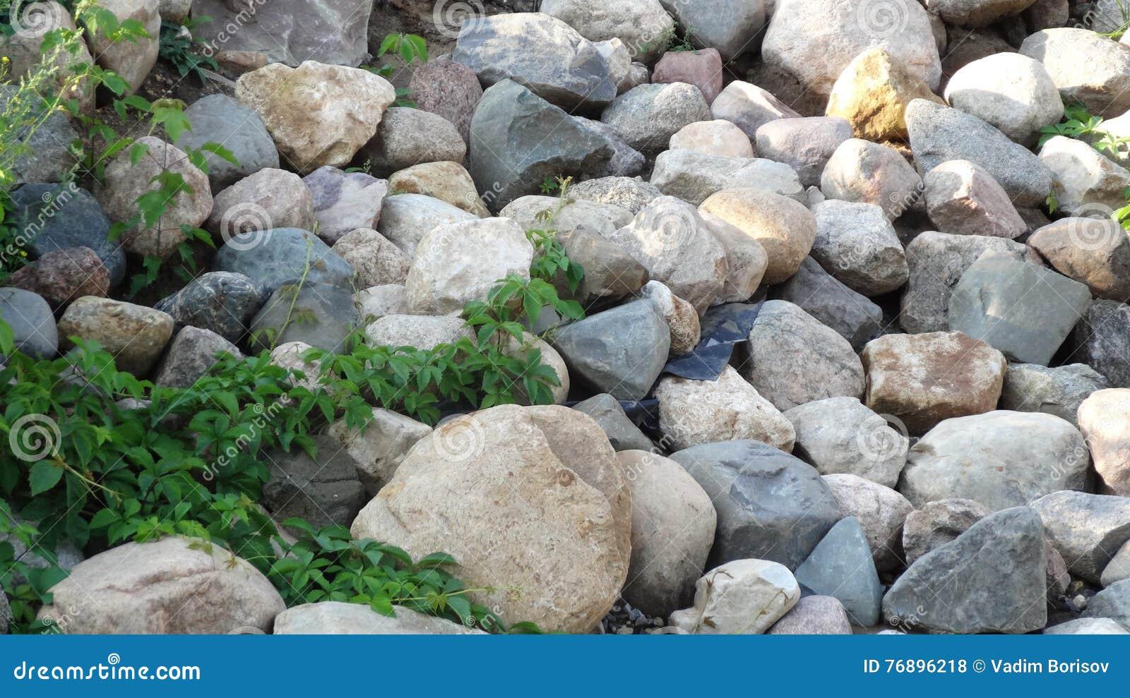 Lot of stones background