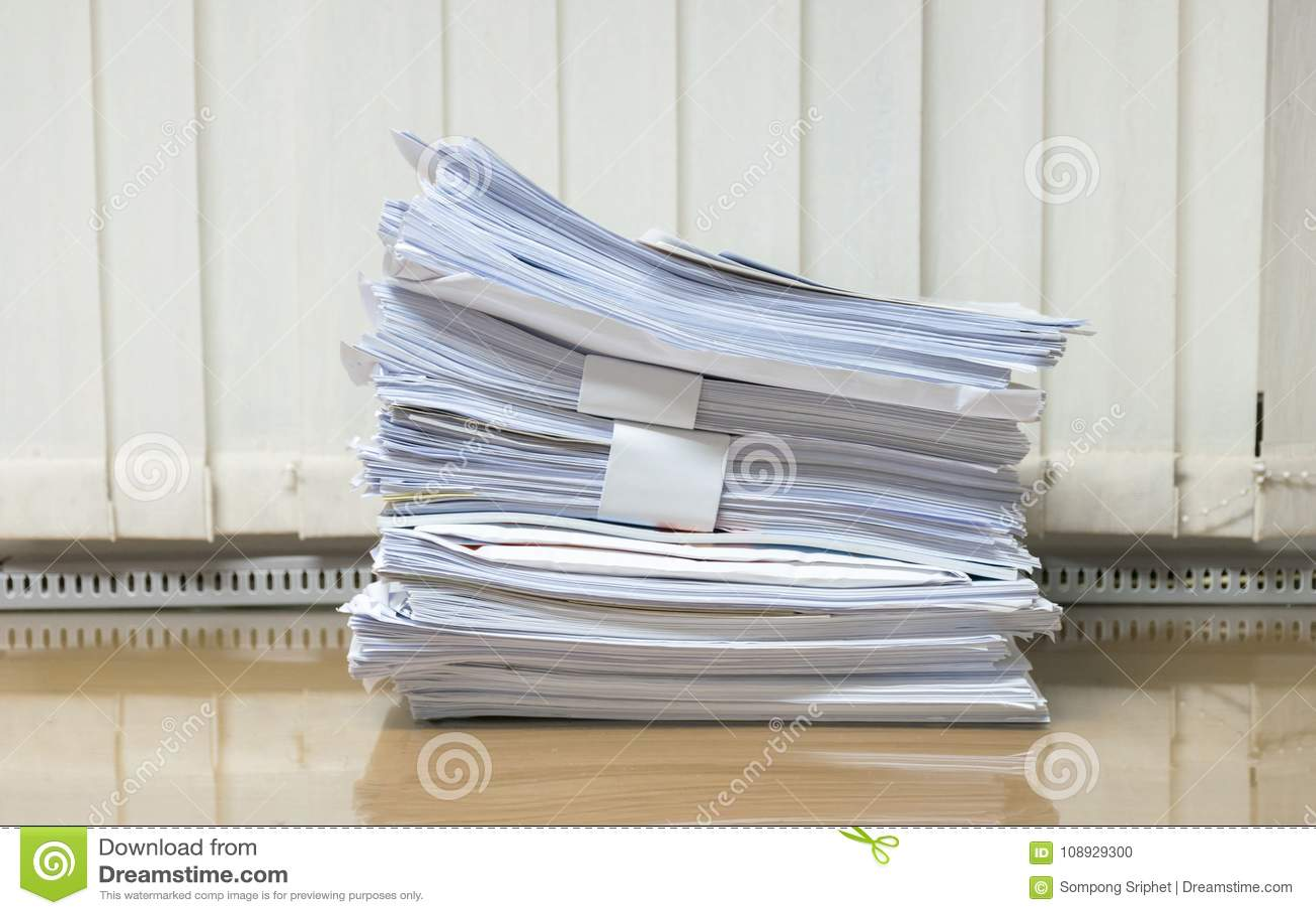 desk office file document paper tray desk lot of work document paper on the desk office of work document paper on the desk office stock photo image