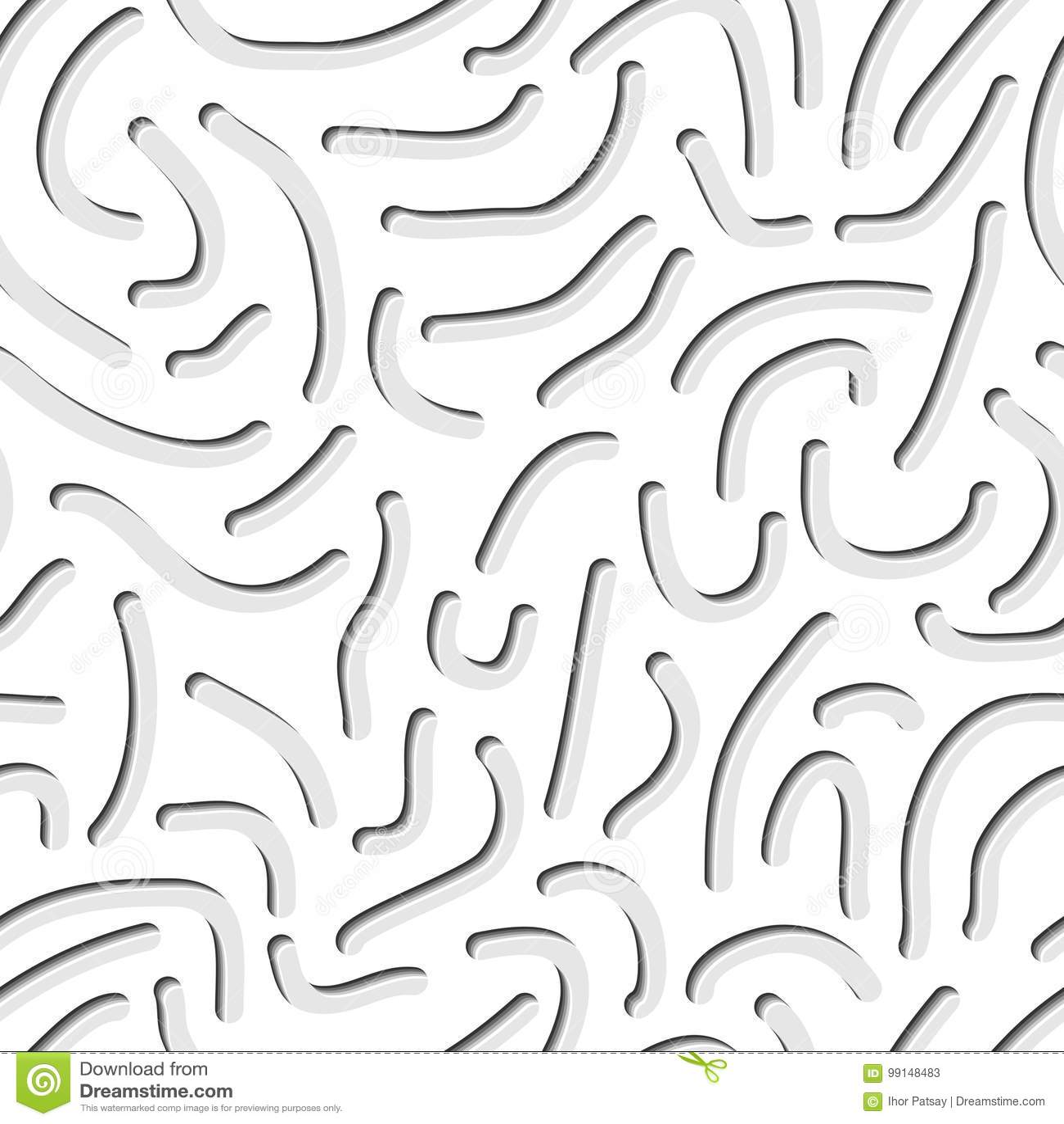 Seamless Worm Pattern Stock Vector Illustration Of Mosaic