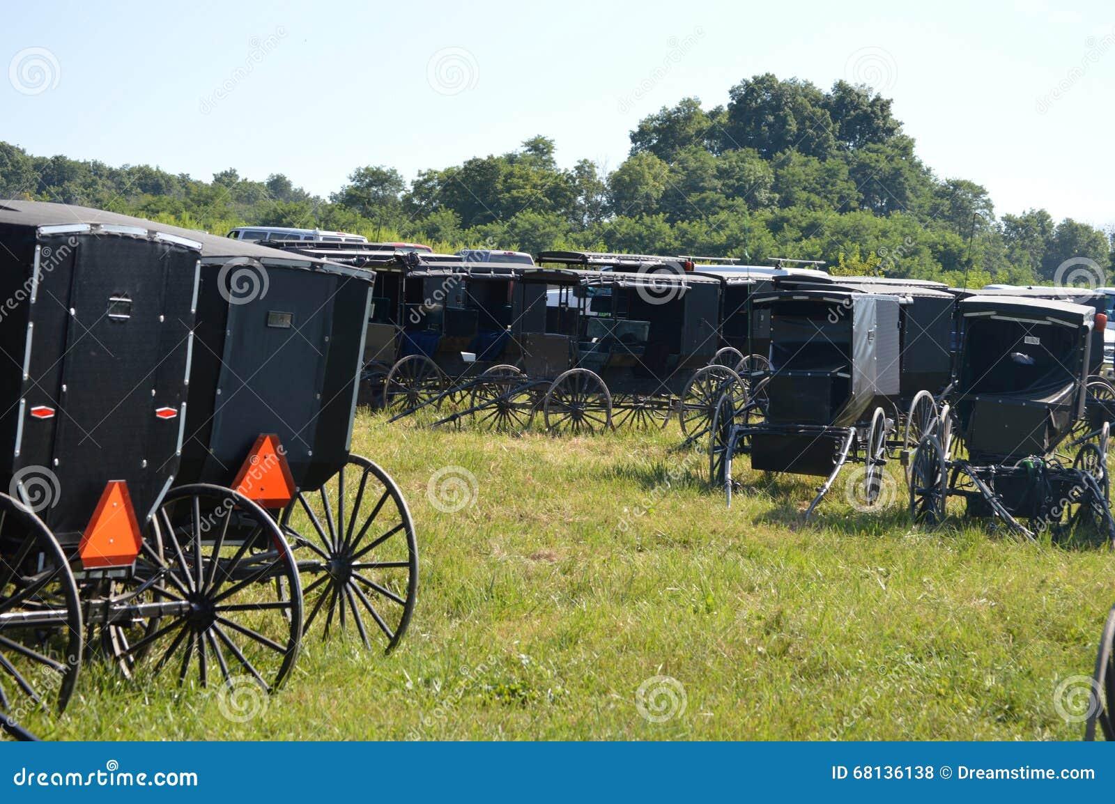Lote de estacionamento de Amish