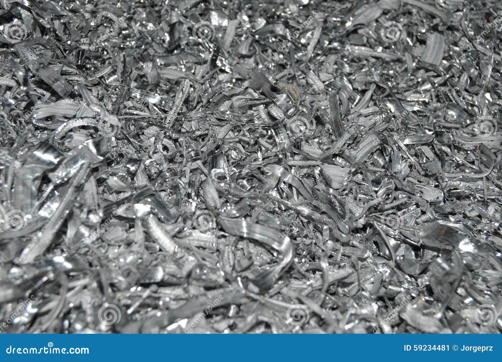 Lote de partes pequenas de alumínio