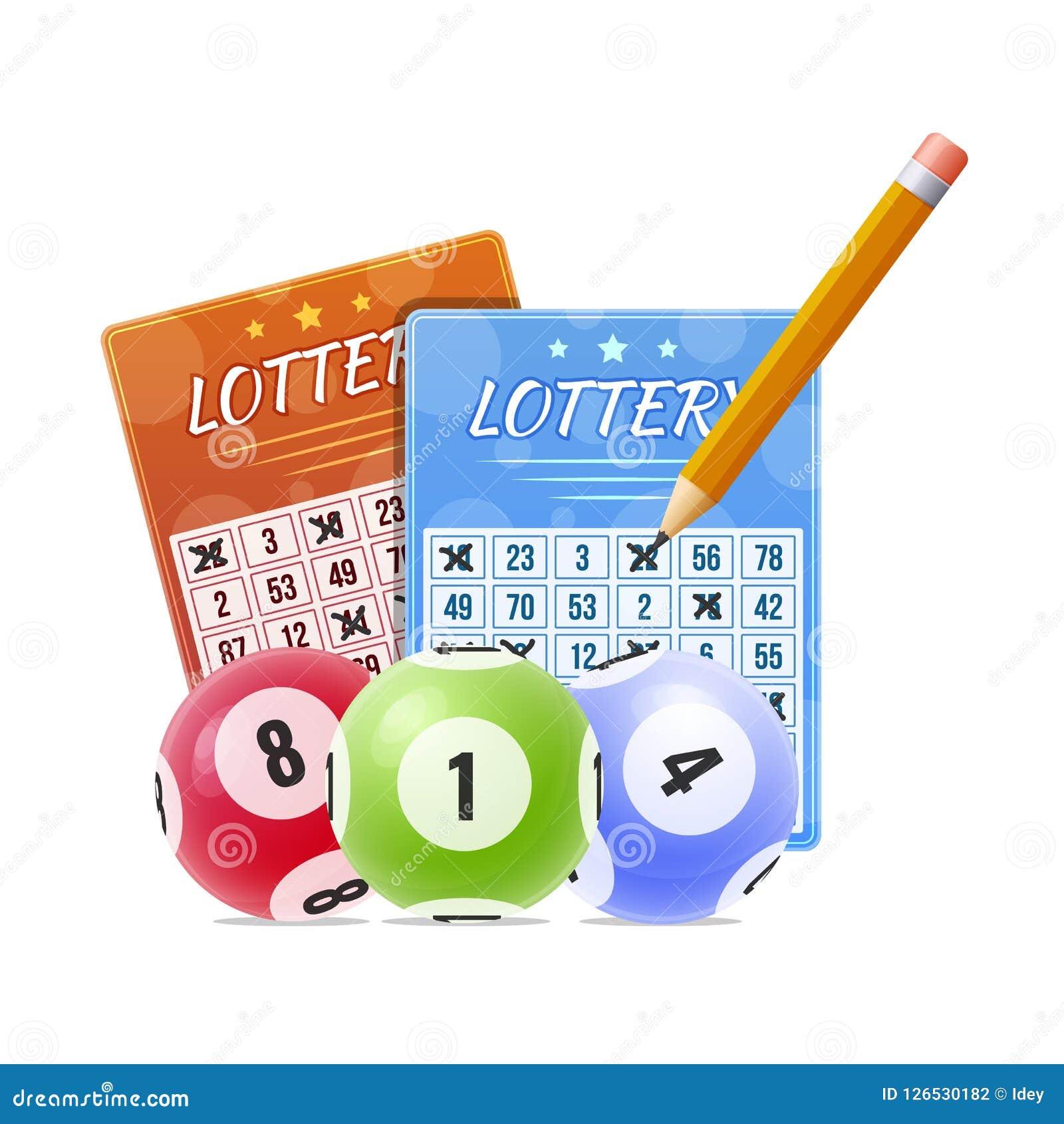 Loterie avec des nombres marqués de gains Boules avec des nombres pour le jeu