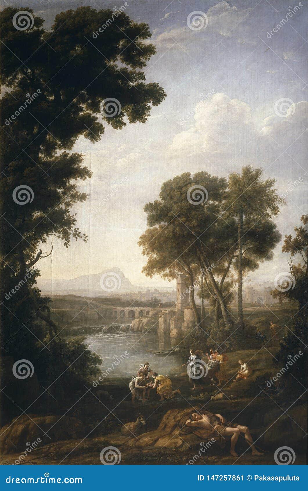 Lotharingen, Claude - Mozes spaarde van de wateren van Nijl, 1639-40