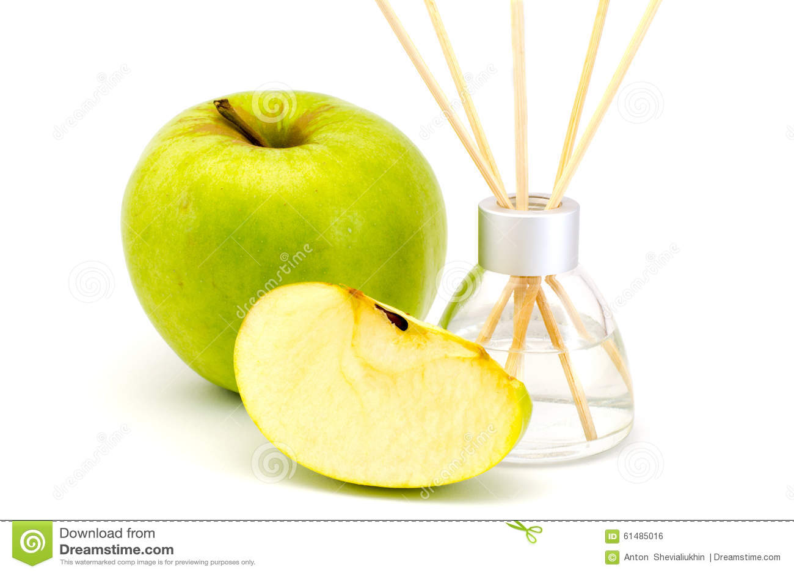 Lotniczy freshener wtyka z zielonym jabłkiem odizolowywającym