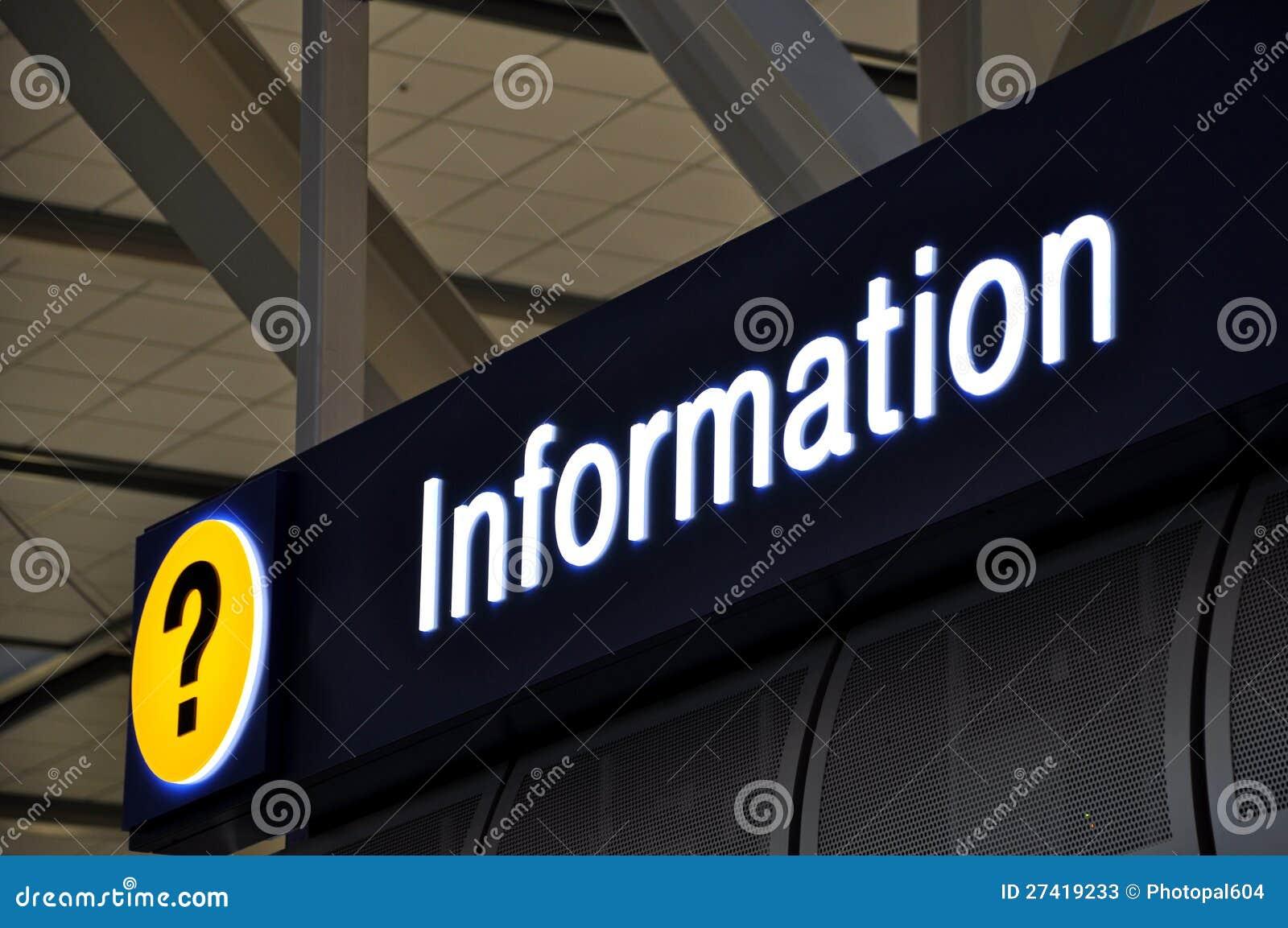 Lotnisko szyldowy info