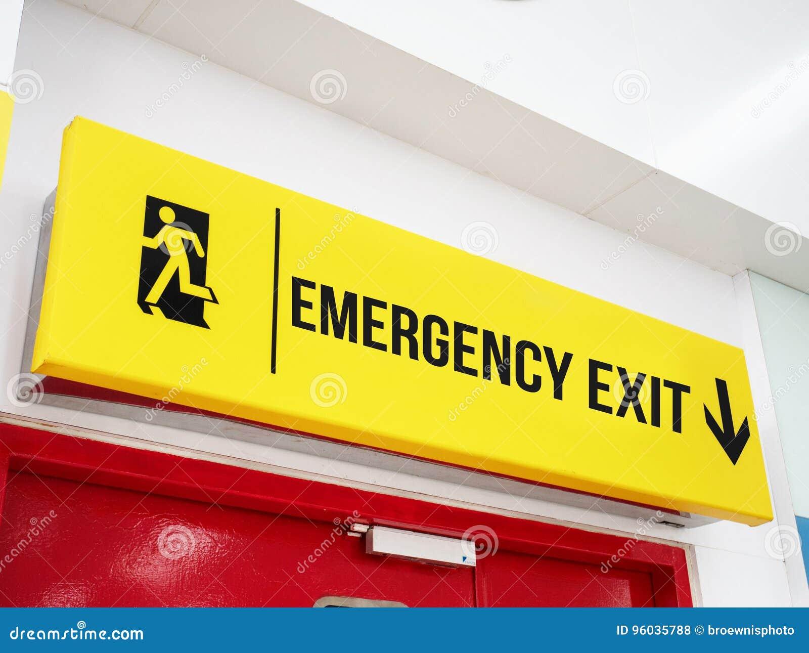 Lotniskowy wyjścia ewakuacyjnego Signage