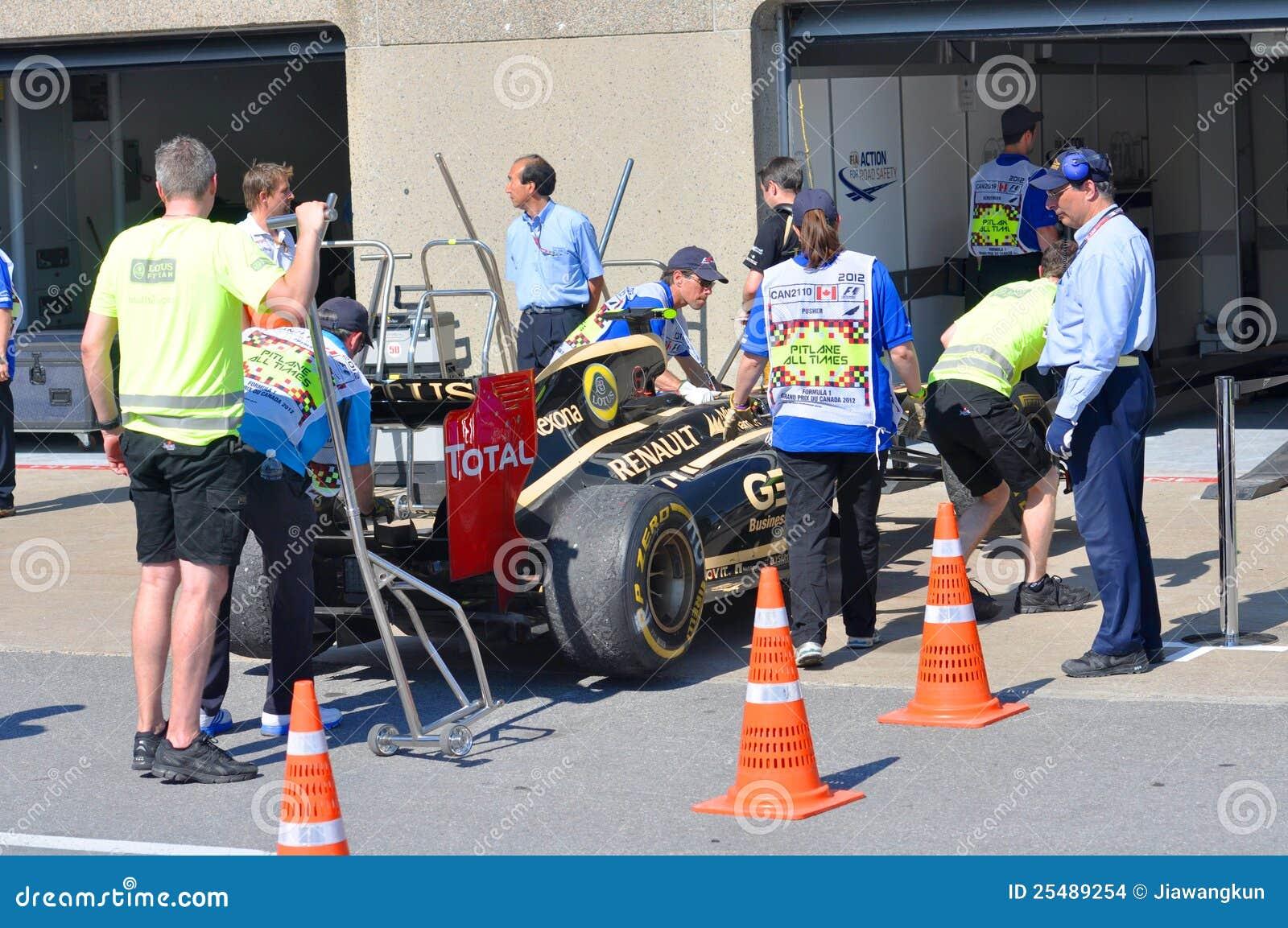 Lotos-laufendes Auto in 2012 F1 kanadisches großartiges Prix