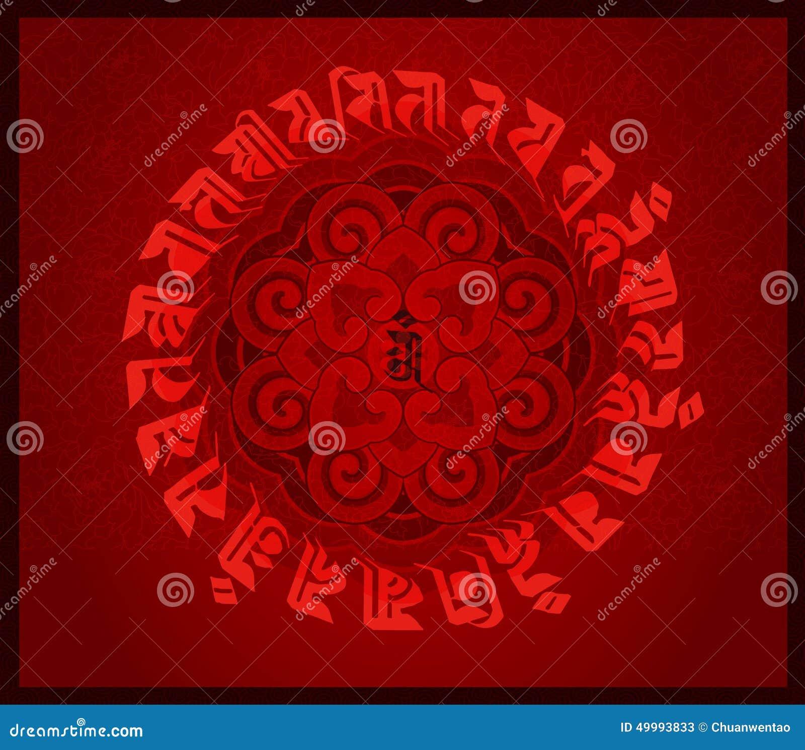 Lotosowy totem i buddyjscy święte pisma
