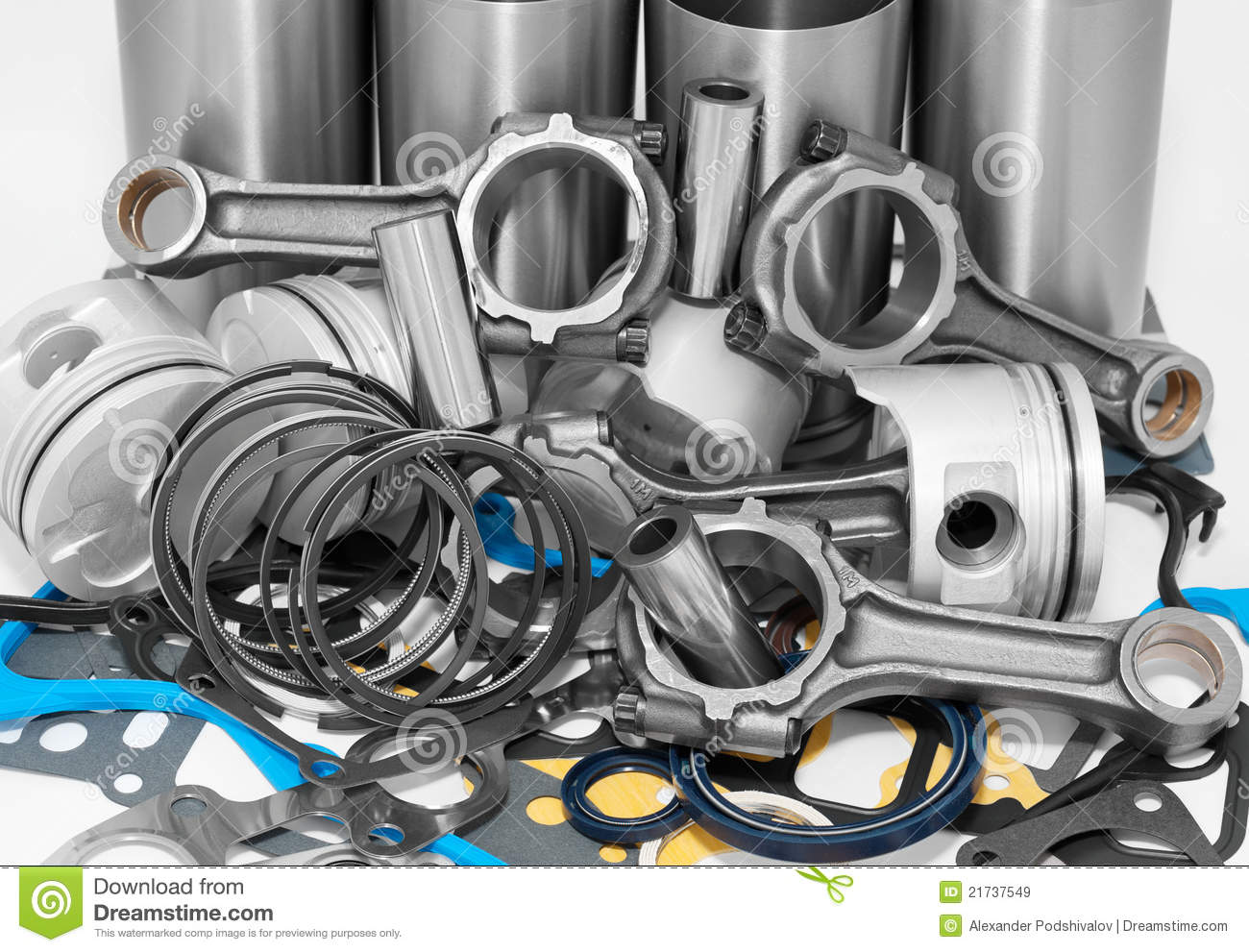 Auto Motor Parts : Lots of auto spare parts stock image diesel