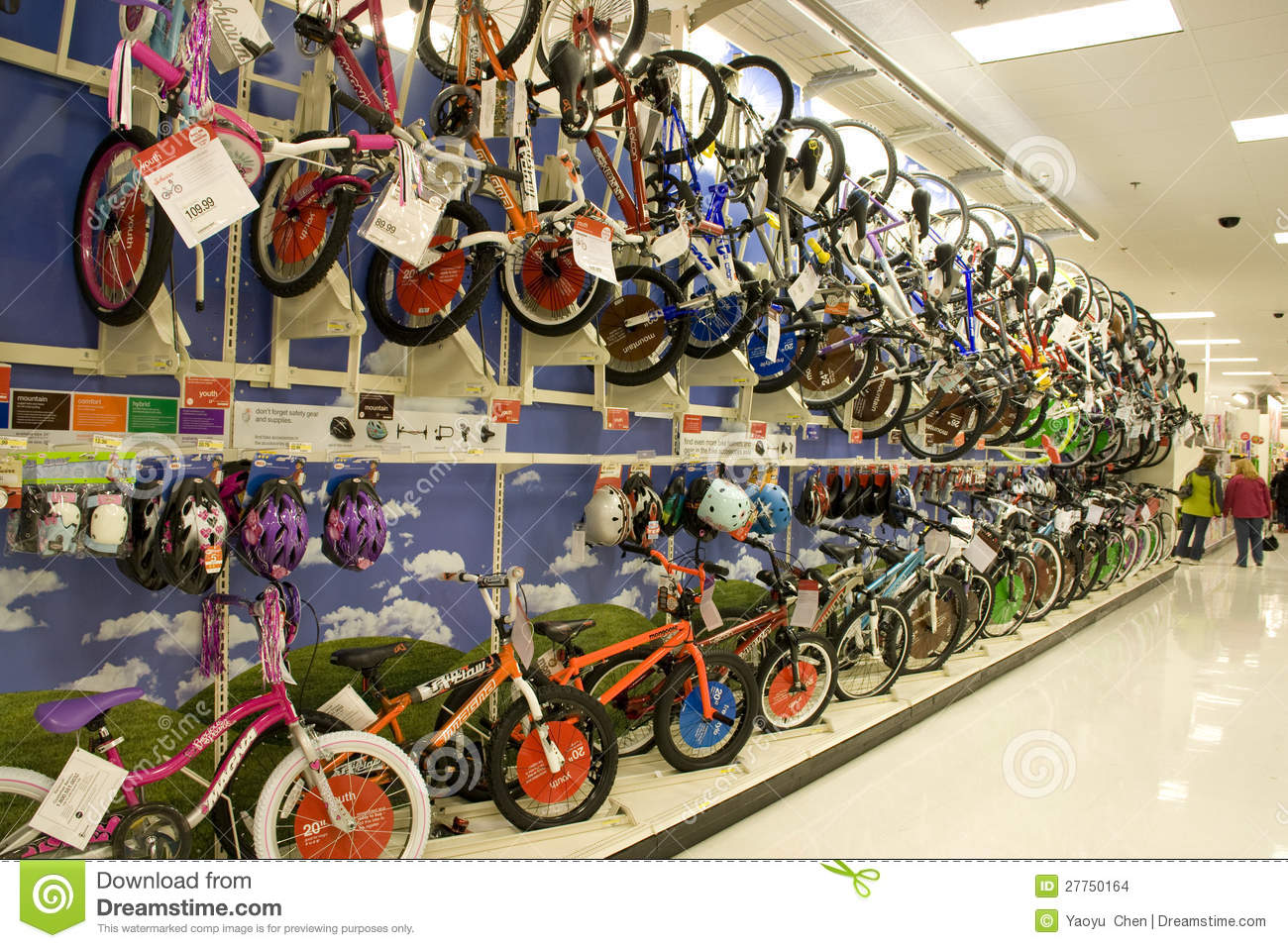 Lots Of Bikes And Helmets For Sale In Store Editorial