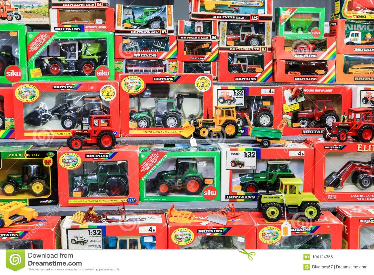 Toy Tractors For Sale >> Toy Tractors For Sale In Shop Editorial Image Image Of Harvest
