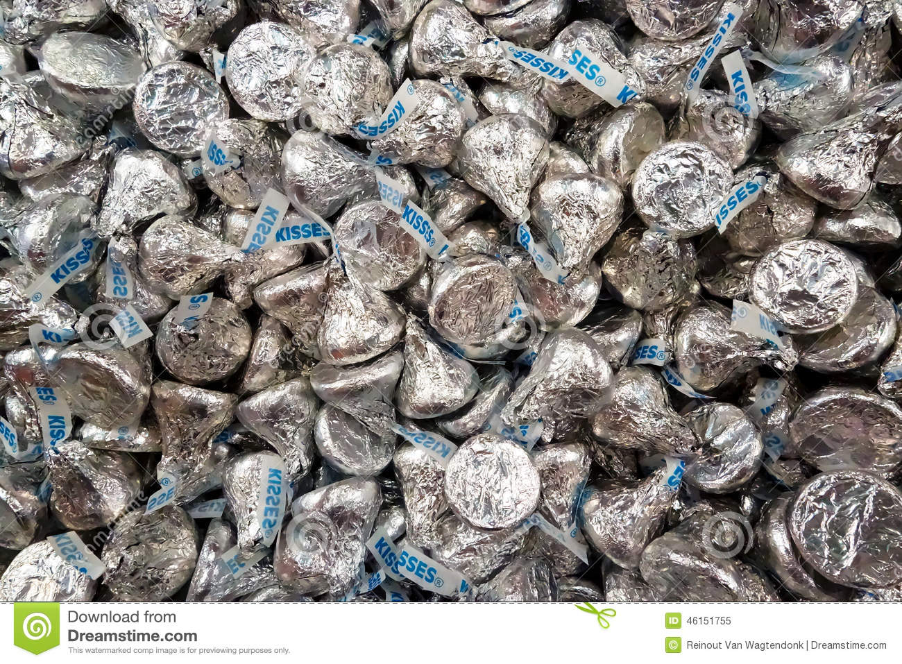 Lots Of Hershey Chocolate Kisses Editorial Image Image