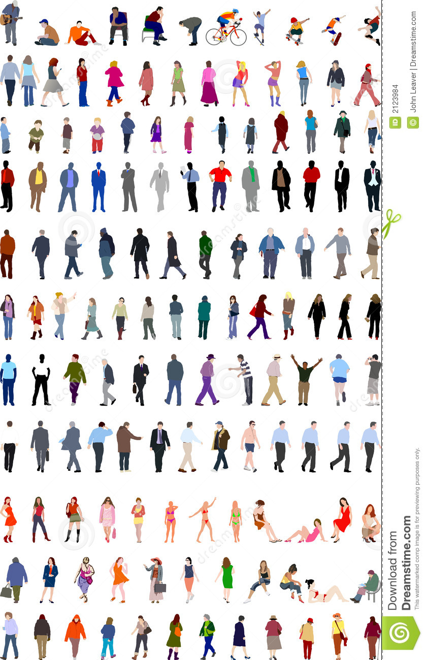 Stock Images Lots People Illustrations Image2123984