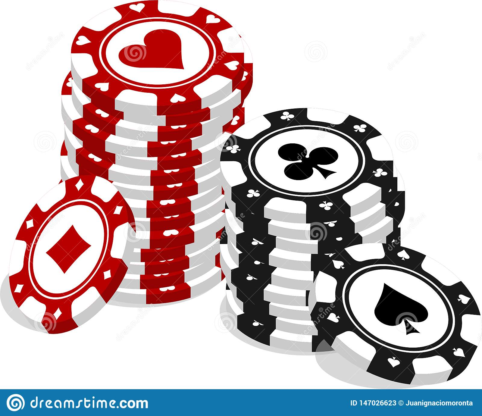 Lots of poker chips