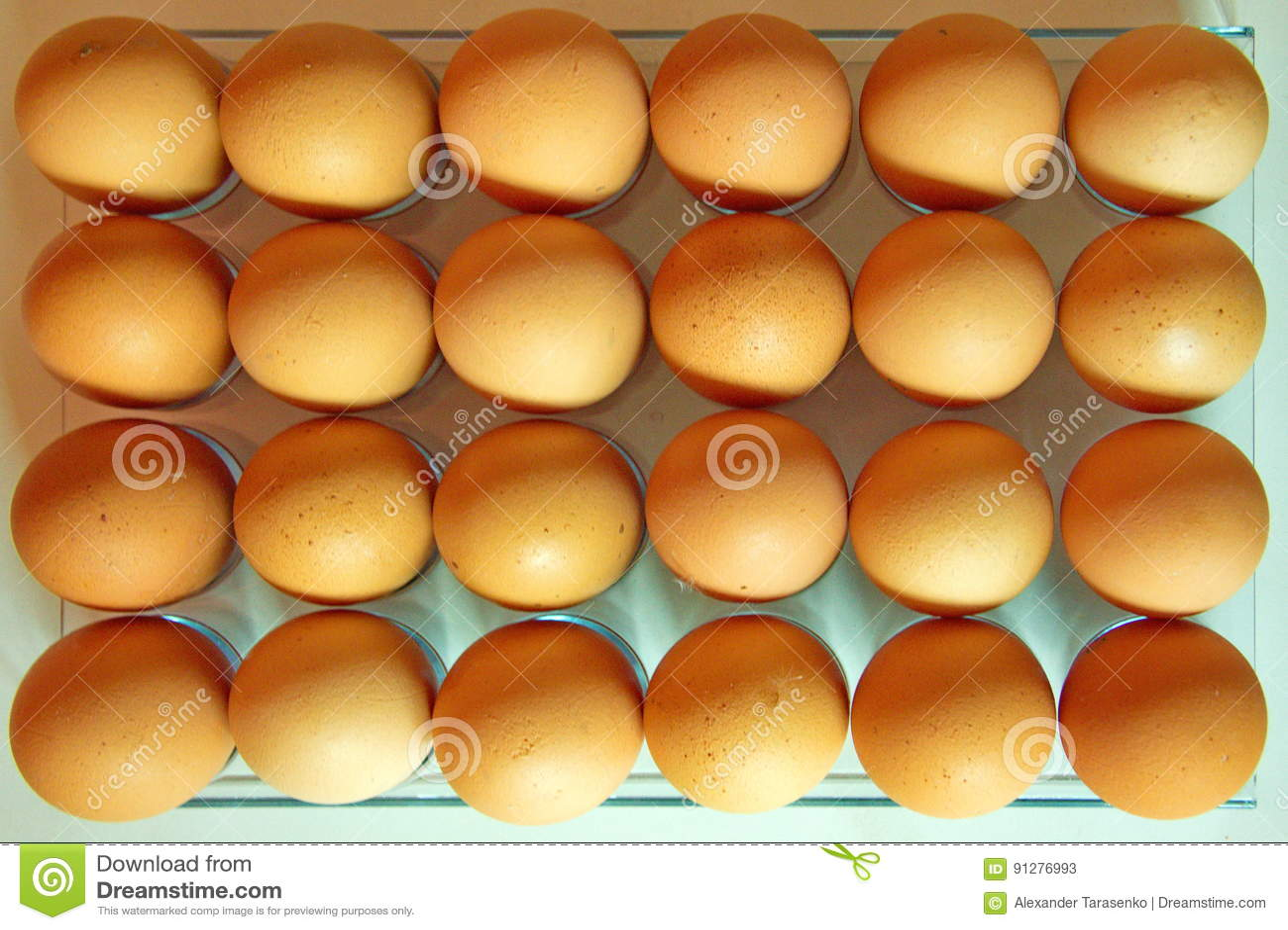 Lott av ägg i rad, plansikt