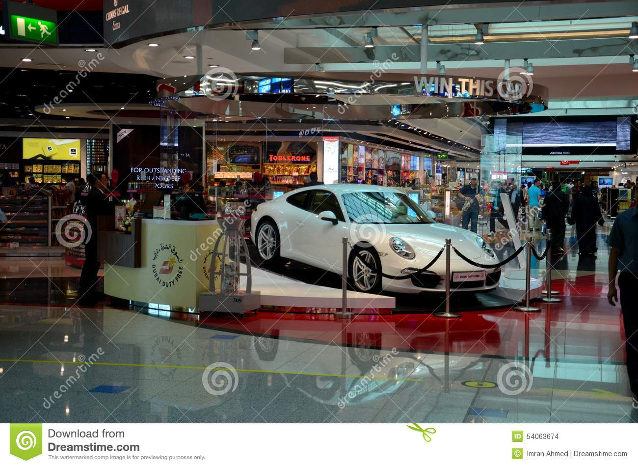 Lottery Porsche Displayed At Dubai Airport Duty Free Complex Uae