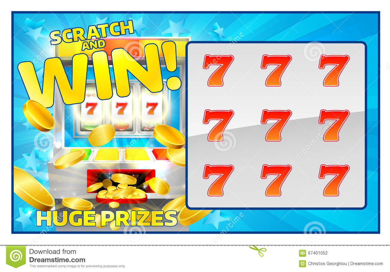 Scratch Off Lottery Ticket Vector Design Template Vector – Winning Ticket Template
