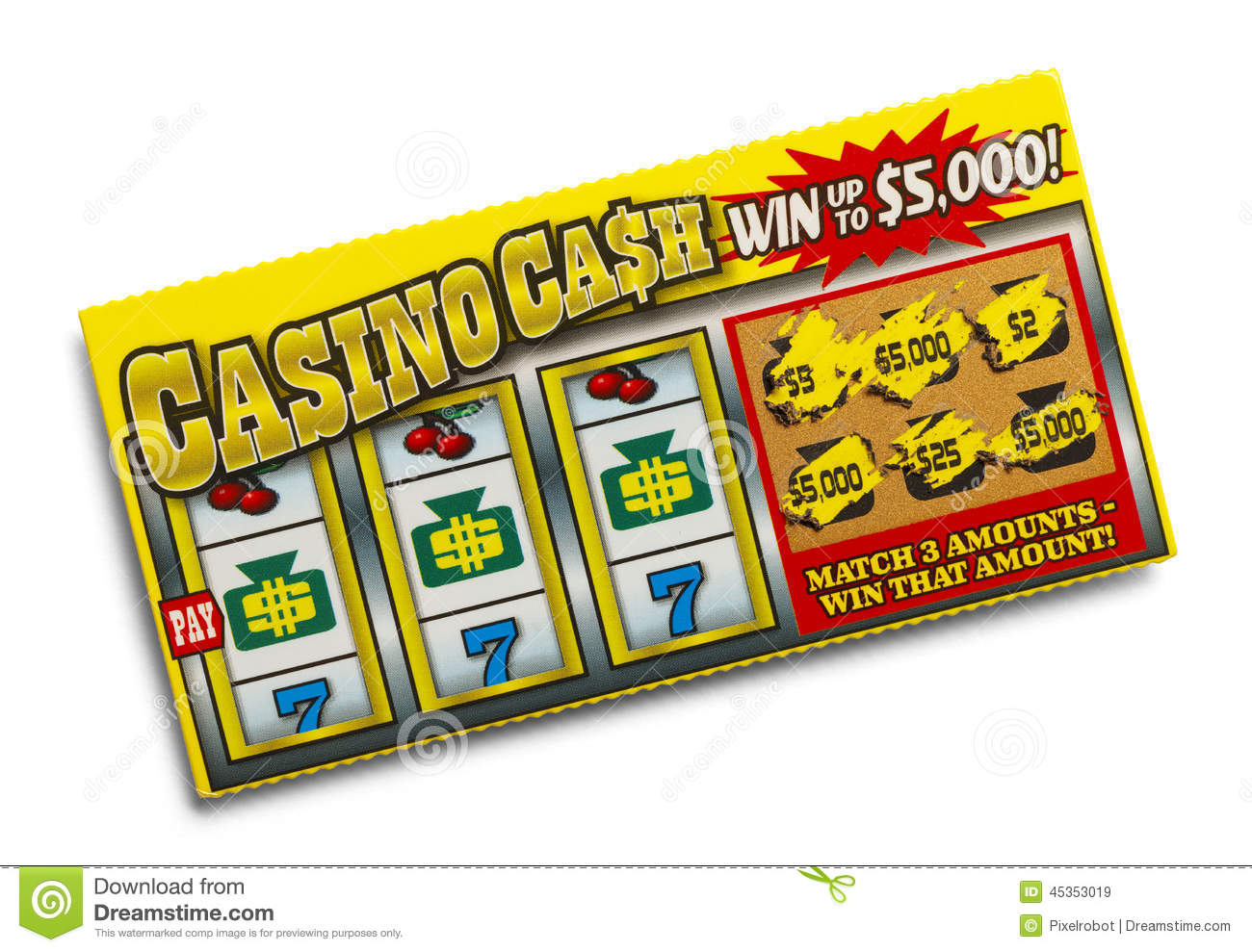 Lottery Ticket Stock Image Image Of Hand First Contest