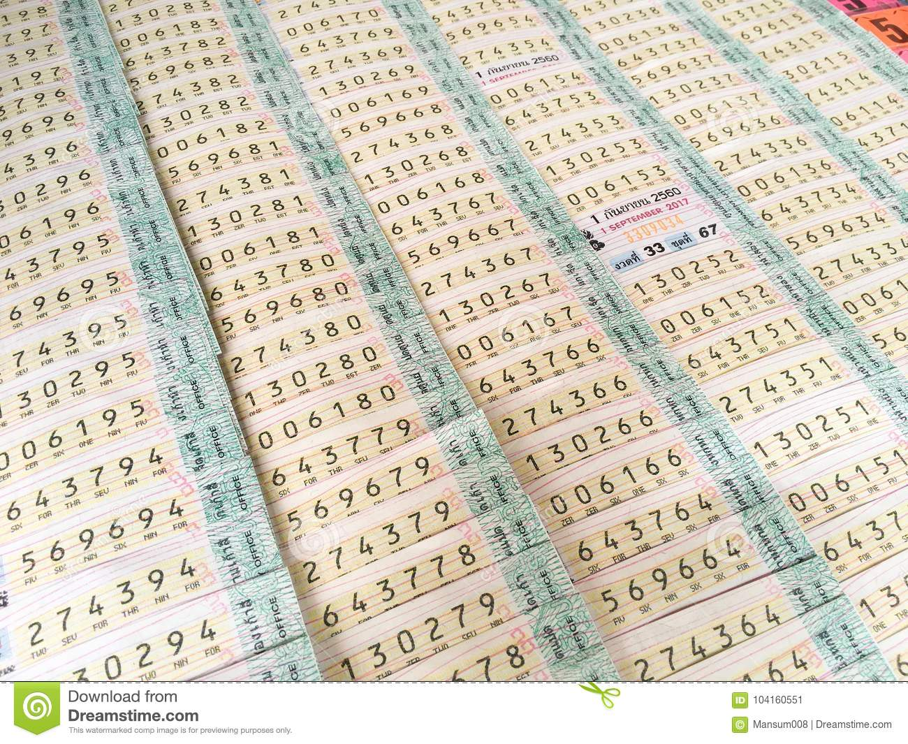 Lottery Ticket At The Stall In Thailand Editorial Photo - Image of