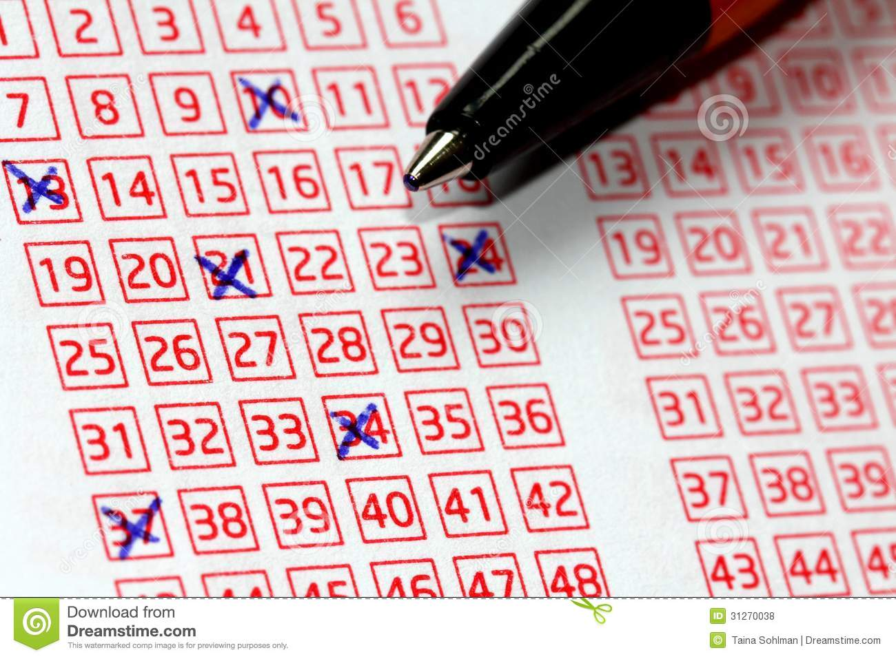 Lotto Lucky Numbers stock photo  Image of game, numbers - 31270038