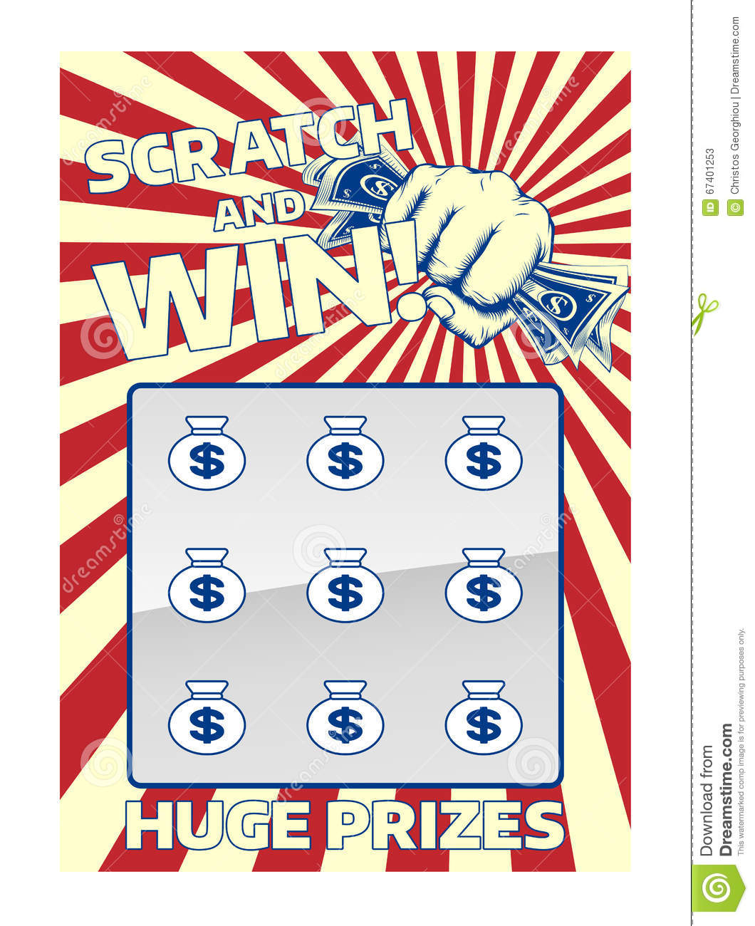 Lotto scratch card stock vector image 67401253 royalty free vector download lotto scratch sciox Images