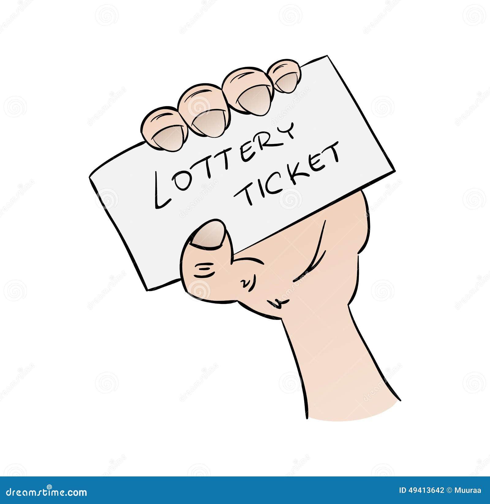 Download Lottoschein in der Hand stock abbildung. Illustration von glück - 49413642