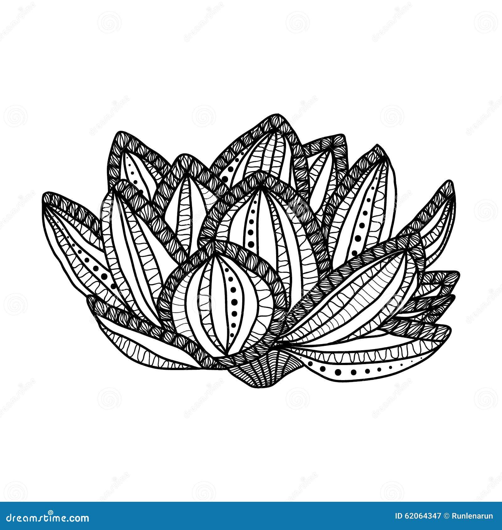 Lotus цветок нарисованный рукой волшебный анти стресс