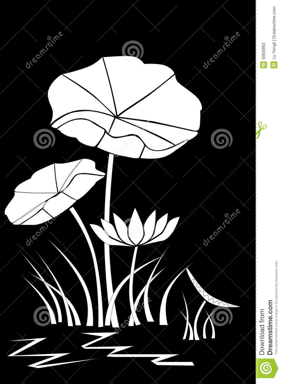 Lotus Stock Illustration Illustration Of Dragonfly Chinese 6956963