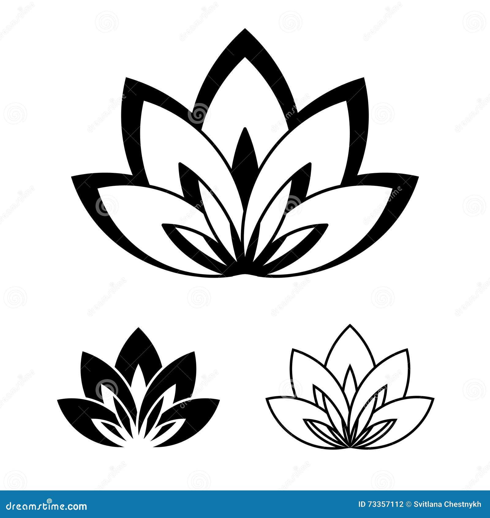 lotus blume als symbol von yoga vektor abbildung illustration von gesund floral 73357112. Black Bedroom Furniture Sets. Home Design Ideas