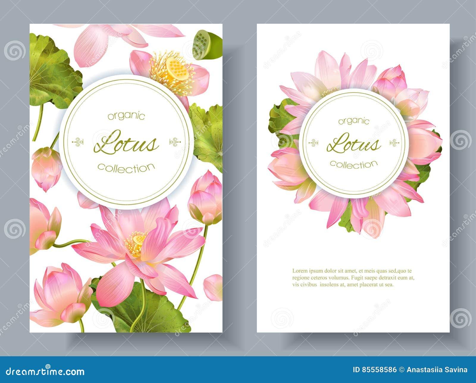 Lotus-Blumenfahnen