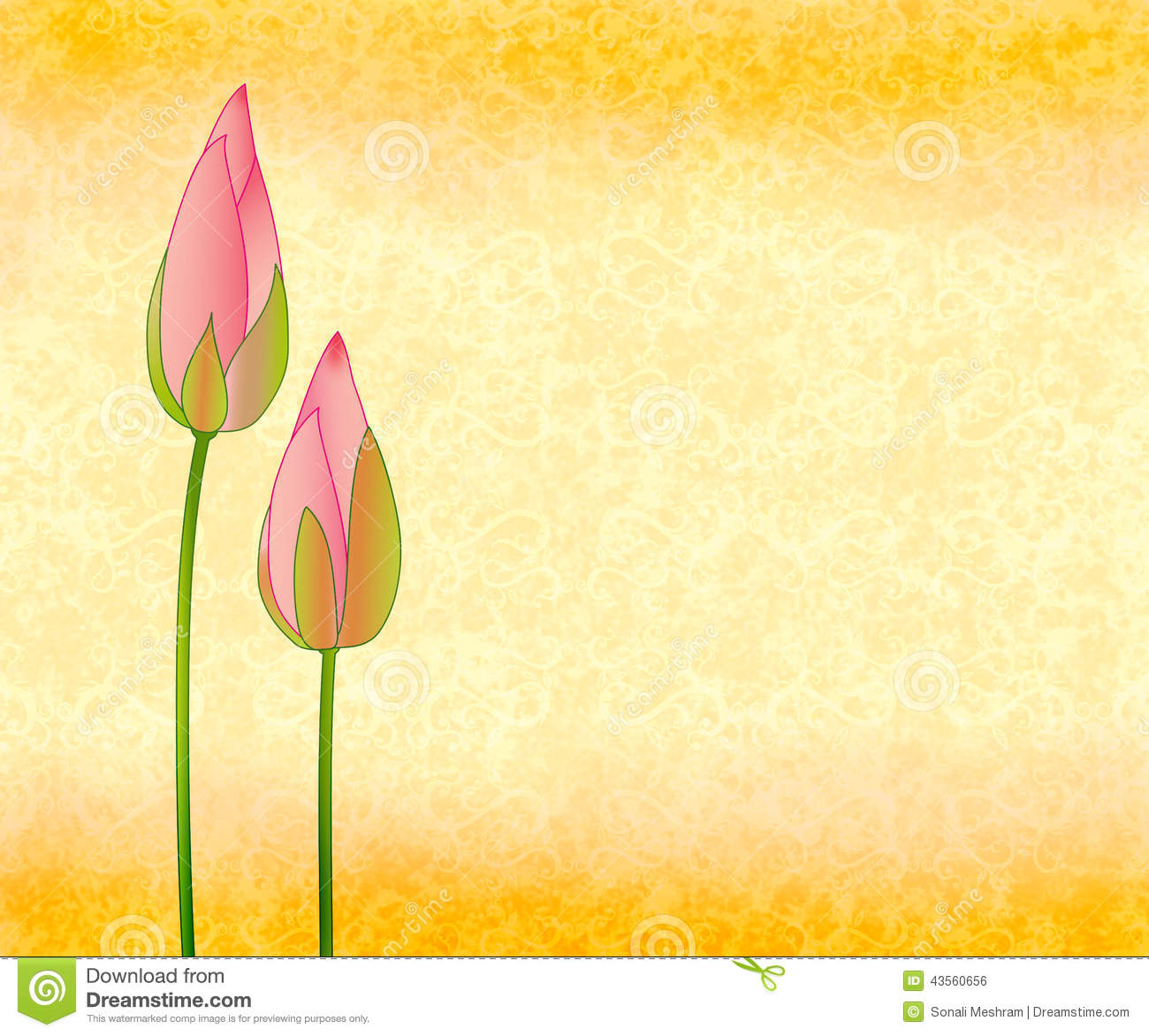 Download Lotus Buds On Seamless Background Stock Illustration - Illustration of health, beauty: 43560656