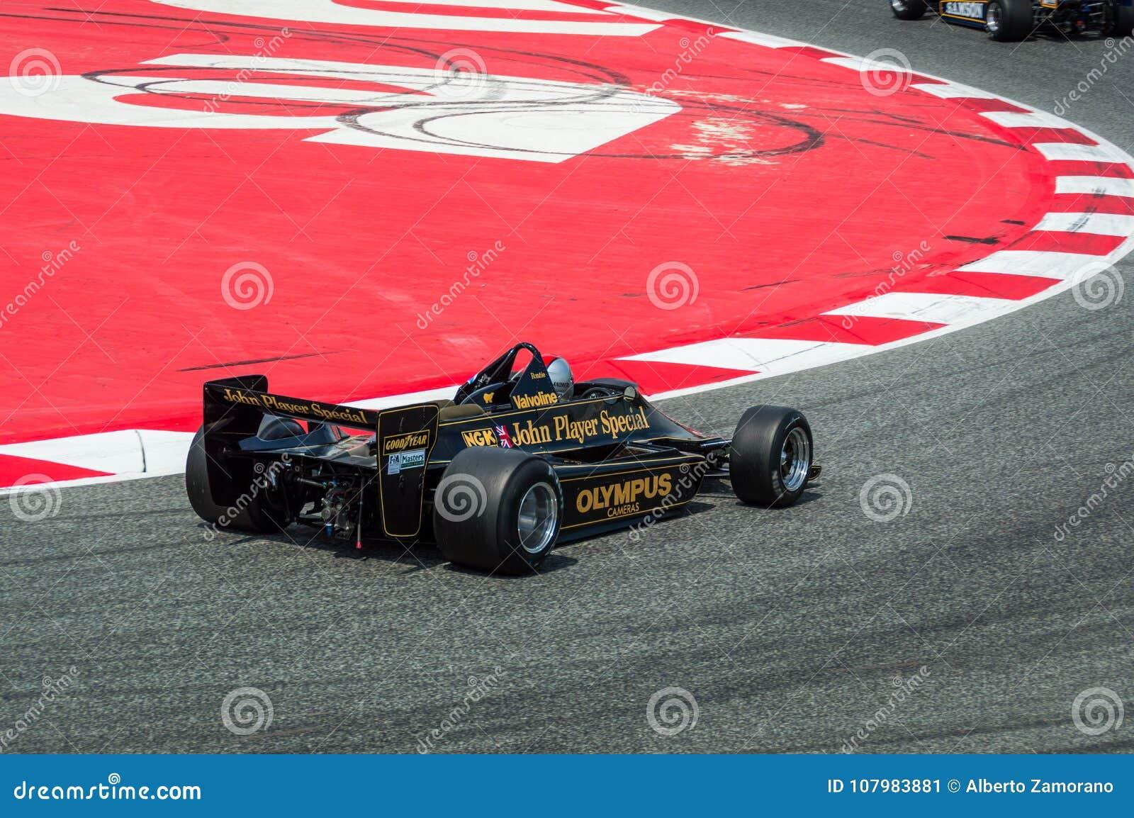 Lotus 91/5 in circuito de Barcellona, Catalogna, Spagna