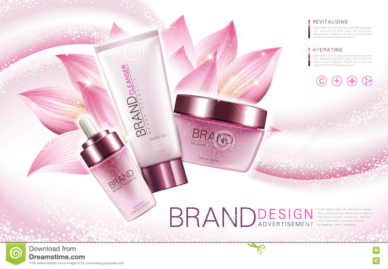 Lotus Cosmetics Collection Stock Vector Illustration Of Hydrating