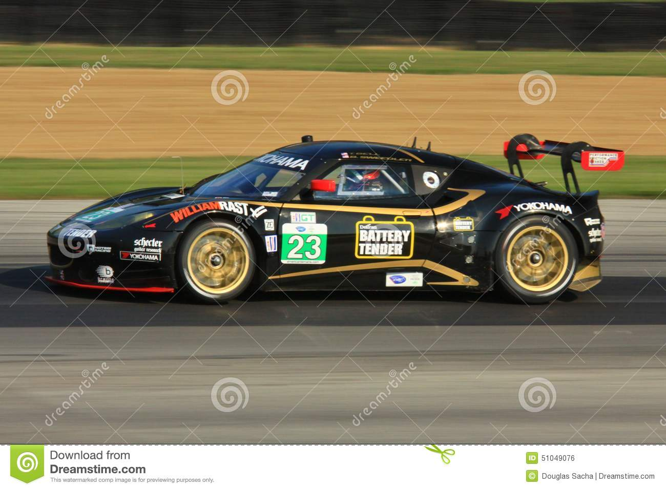Lotus Evora racing editorial photo. Image of event, gopro - 51049076