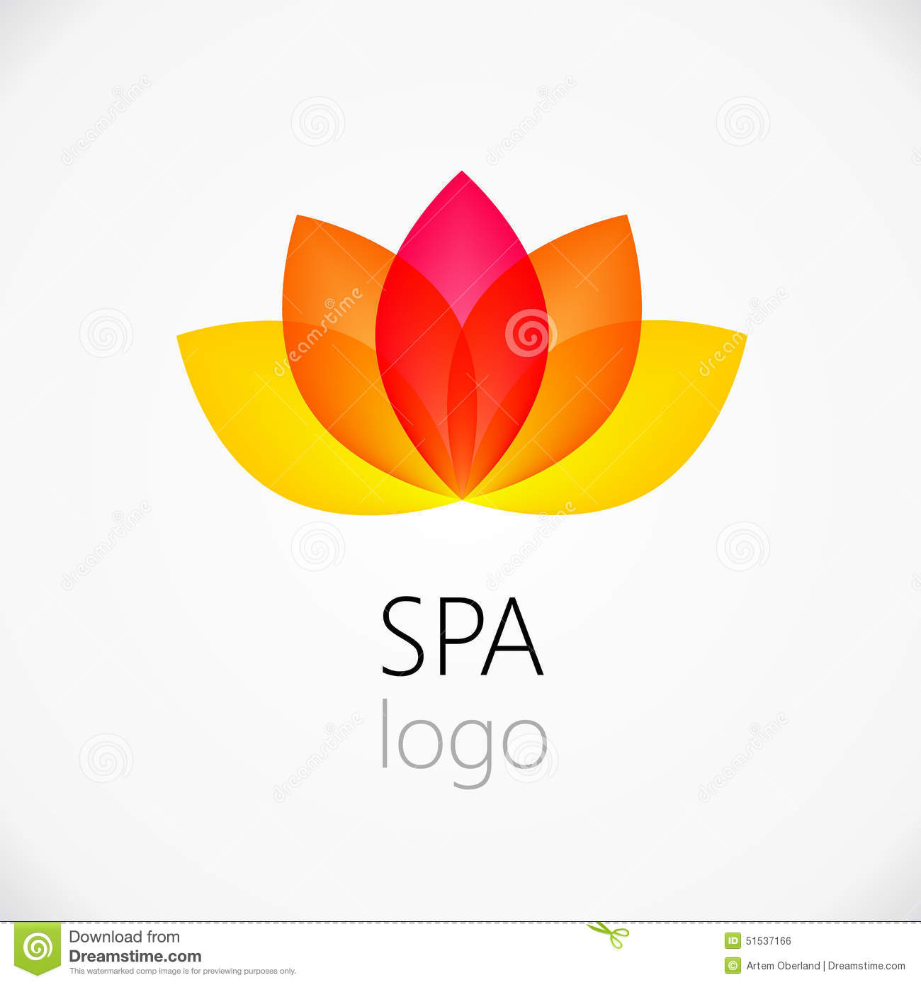 lotus flower abstract logo design template illustration 51537166