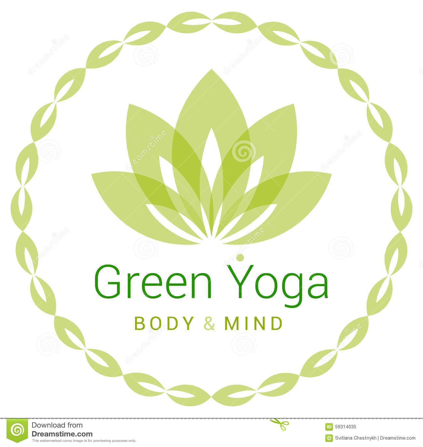 Lotus Flower As Symbol Yoga Stock Vector Image